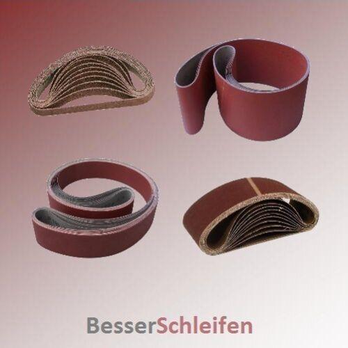 grain et quantité au choix Abrasifs schleifband tissus-dimensions
