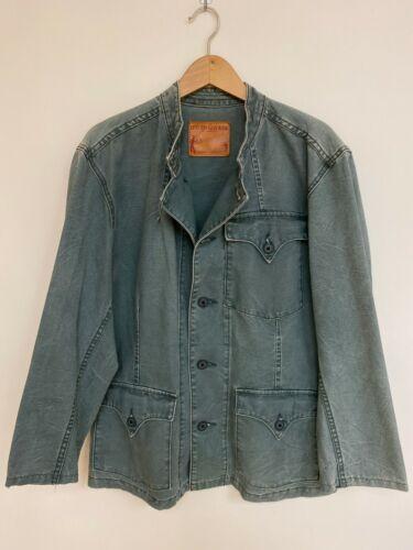 LEVI'S Denim Chore Coat Button Down Blue Field Jac