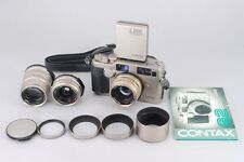 [Near Mint] Contax G2 Rangefinder Film Camera w/ 28mm 45mm 90mm from Japan #5472