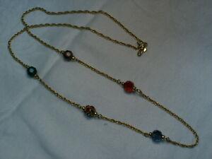 Détails sur Cygne Signé Swarovski Chaîne Cristal & Perles Collier