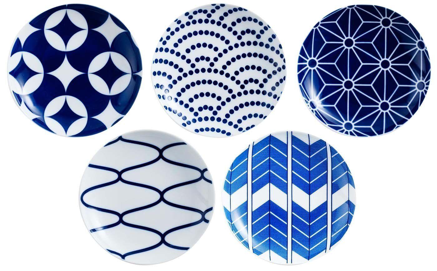 KIHARA KOMON Japanese Traditional Pattern Plate Small Dish Set F S Made in Japan