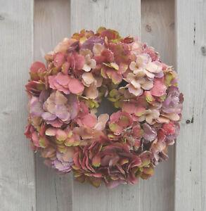 Kranz-Hortensie-rosa-Tuerkranz-Kunstblumenkranz-Tischkranz-ca-30-cm