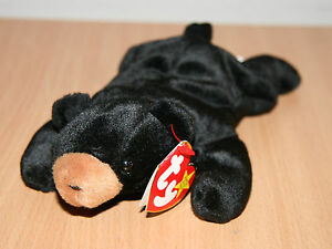 c3c4084d71f TY Beanie Baby Blackie The Bear With Date Error Tags 93   94