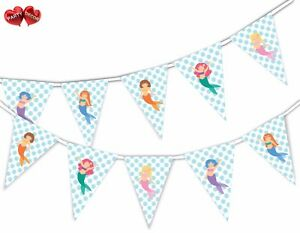 Lovely-Happy-Mermaids-Bunting-Banner-15-flags-by-PARTY-DECOR