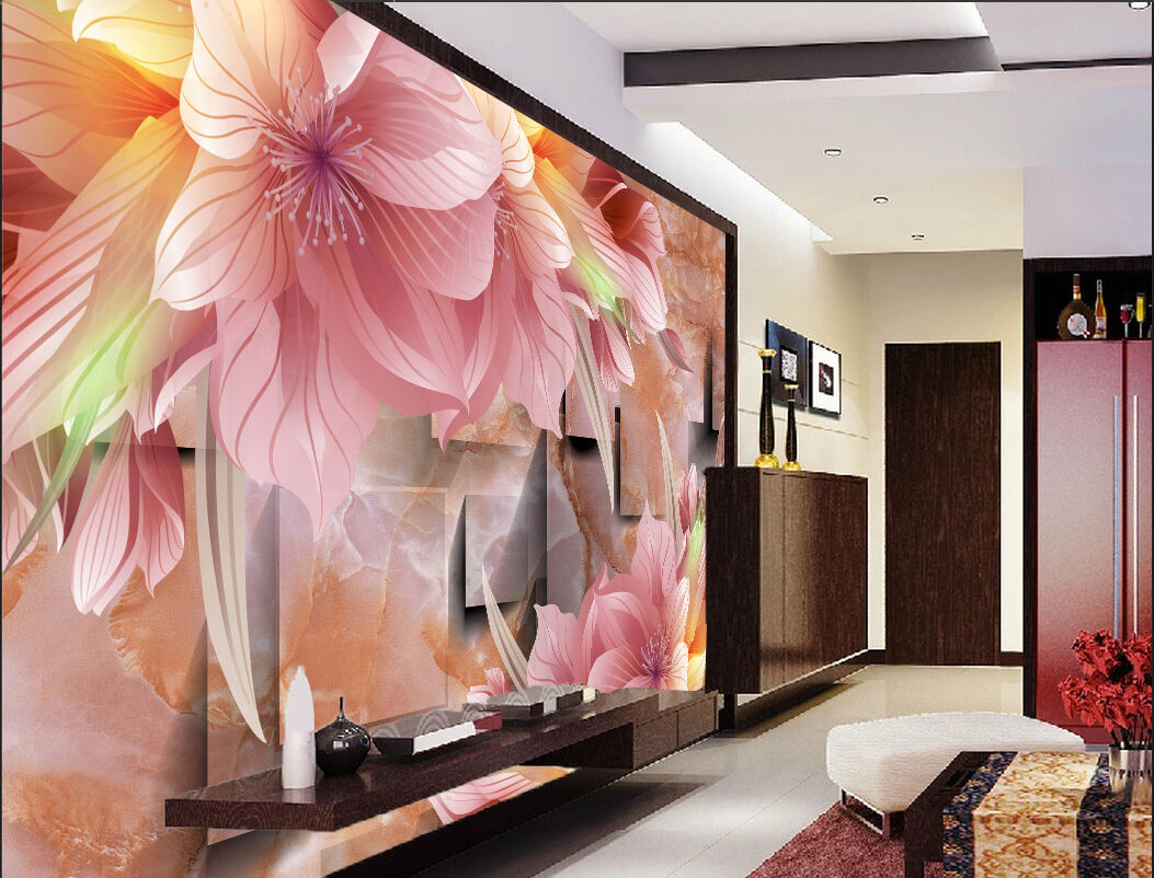 3D Bright Flowers Patterns 2 Paper Wall Print Wall Decal Wall Deco Indoor Murals