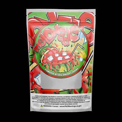 10x 25x 50x Big Smokey Farms-zookies 3.5 g Mylar Bags avec imprimé Mylar label