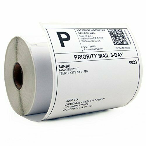 """Buhbo Compatible with DYMO LabelWriter 4XL 4"""" x 6"""" Shipping Label 1744907 Whi..."""