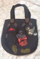 Disney Parks I Love Nerds Mickey Navy Blue Plaid Tote / Shoulder Bag