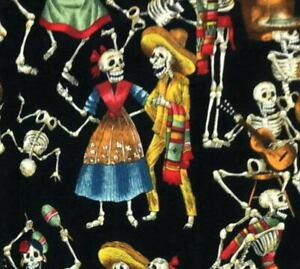 Alexander Henry Folklorico Fiesta De Los Muertos Feast of the Dead Black Fabric