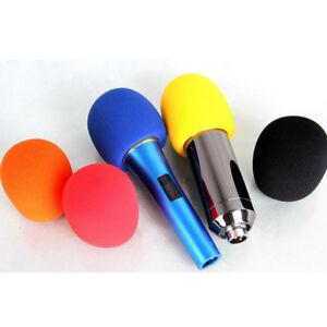 5 colors microphone windscreen karaoke wind shield pop filter mic cover foam uk ebay. Black Bedroom Furniture Sets. Home Design Ideas