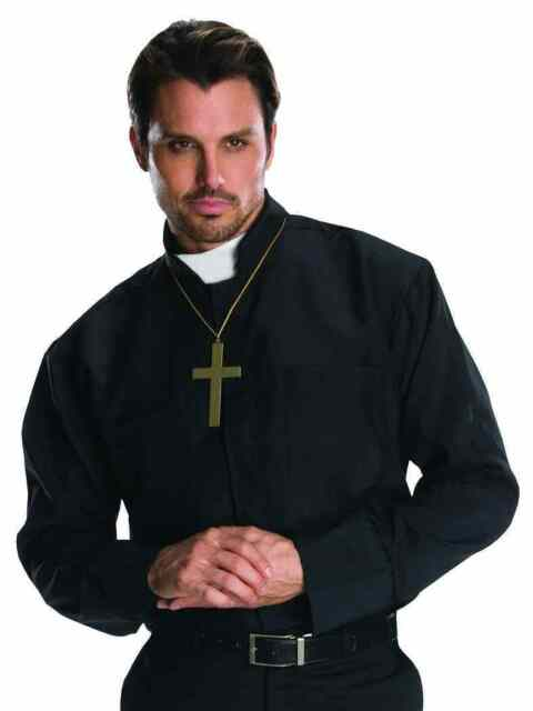 Priest Catholic Church Father Religious Fancy Dress Up Halloween Adult Costume