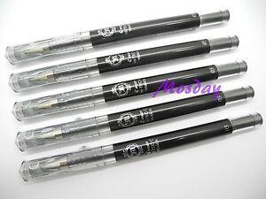 5-x-Pilot-Hi-Tec-C-Maica-0-3mm-Needle-Tip-RollerBall-Pen-BLACK