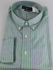 Ralph Lauren Polo Classic Fit Dress Shirt Mens 22 38 39 Green Purple White New