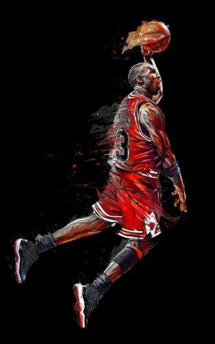 Michael Jordan 23 Canvas Pictures Basketball Legend Art Large Photo Poster