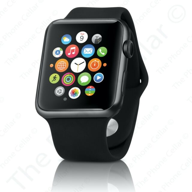 Apple Watch Series 2 42mm Stainless Steel Black Smat Watch Mp4a2ll A For Sale Online Ebay