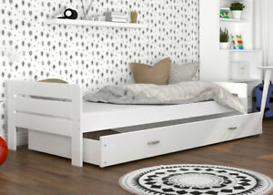 Details about TODDLER CHILDREN MODERN SINGLE BED FOR KIDS + MATTRESS +  DRAWER + FREE DELIVERY