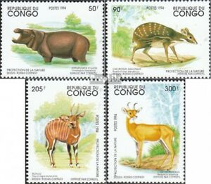 brazzaville 1421-1424 Unmounted Mint Enthusiastic Congo Never Hinged 1994 Rare Animals