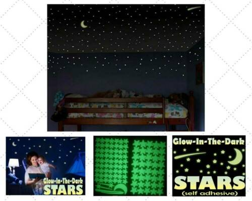 103Pcs Glow In The Dark Luminous Stars /& Moon Planet Home Wall Stickers Decal