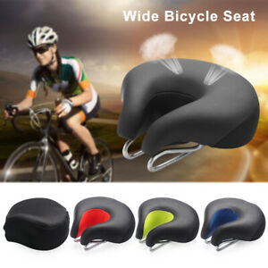 Cycling for Exercise Bicycle Saddle Soft Padded Noseless Wide Bicycle Seat