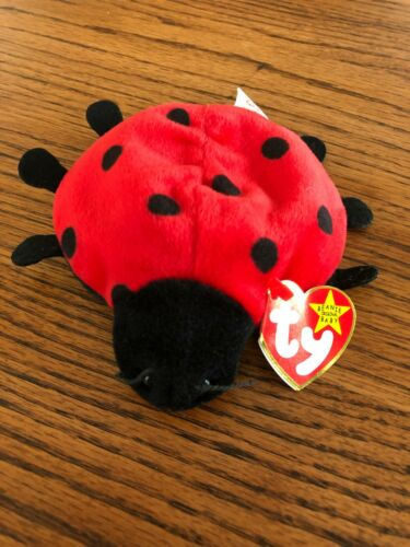 Vintage Retired Ty Beanie Baby LUCKY THE LADYBUG 1993 MWMT