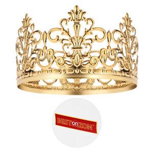 BESTONZON-1PC-Tiara-Crown-Gold-Elegant-Cake-Decoration-Crown-for-Party-Birthday