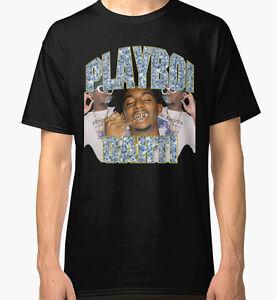 6de45ae58 Playboi Carti Vintage Hip-Hop Men's Black Tees Shirt Clothing | eBay