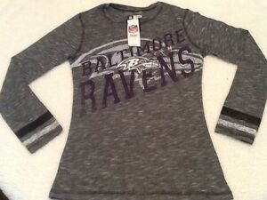 54907e8be NFL Womens Team Apparel Baltimore Ravens Long Sleeve Tees Brand New ...