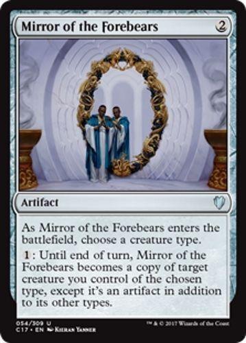 Magic the Gathering MTG 1x MIRROR OF THE FOREBEARS Commander Rare