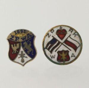 Polish-Fraternal-Society-Vintage-ZPWA-ZPRKWA-Member-Collectible-Enamel-Crest