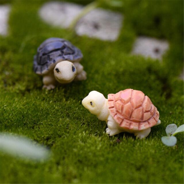 10pcs Miniature Tortoise Bonsai Fairy Garden Landscape Home Dollhouse Decor neJB