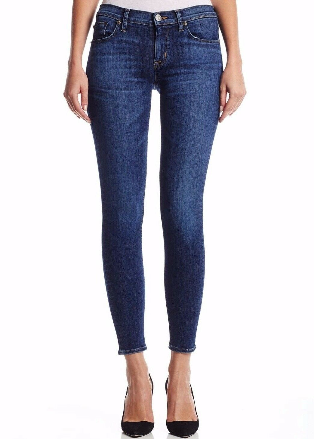 NWT HUDSON Sz27 KRISTA ANKLE SUPER SKINNY-STRETCH JEANS DREAM ON blueE  195