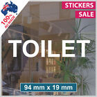 TOILET Sticker ANY SIZE! Decal Custom Office Shop Sign VINYL LETTERING (1013)