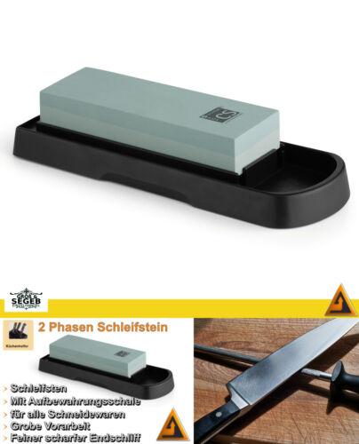 Schleifstein Messer Messerschärfer Set Schleifblock Wetzstein mit 2 Phasen CS