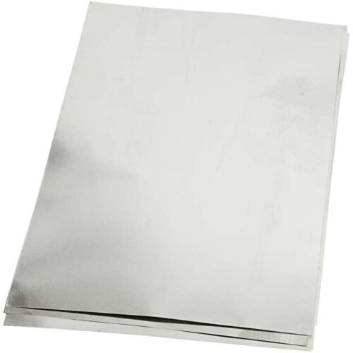 Silver Stamping Foil Sheet x 3  Double Sided A5 - Embossing Craft Decorate Metal