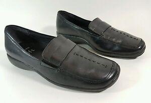 Clarks cushion soft black leather flat shoes UK 3 Eu 36 super condition