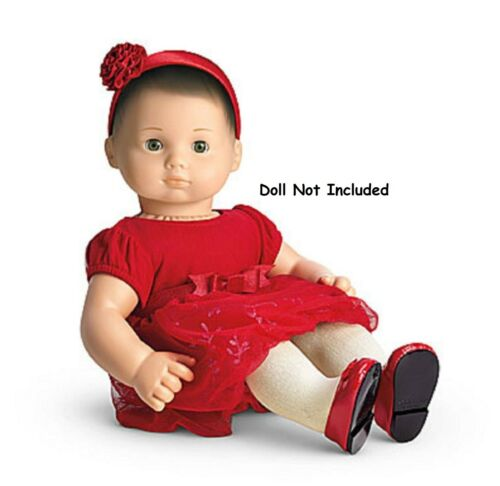 American Girl Twinkle Party Dress Red Doll Not Included NIB Bitty Baby Twins
