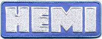 Hot Rod Patch Hemi Badge Drag Race Muscle Car Mopar Dodge Plymouth Blue