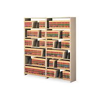Tennsco Snap-together Six-shelf Closed Add-on Steel 36w X 12d X 76h Sand