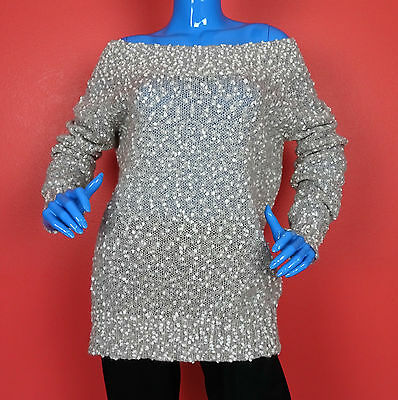 Kersh Oversized On Off Shoulder Sweater L 12 14 16 Boucle Slimming Mohair Wool