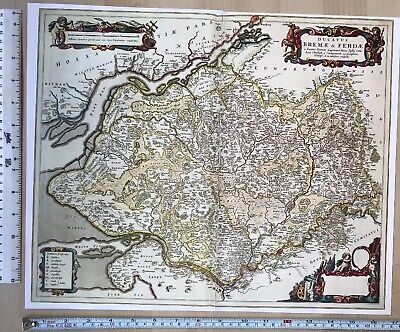 Map Of North West Germany.Historic Old Antique Vintage Blaeu Map North West Germany 1662 1600 S Reprint Ebay
