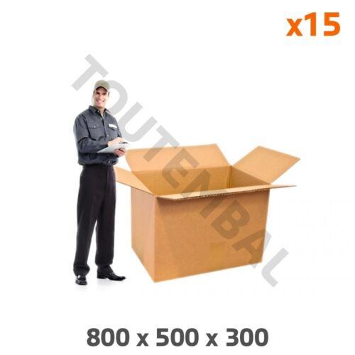 par 15 Caisse carton grand format 800 x 500 x 300 Double résistance