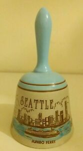 Fantastic-Vintage-Japanese-Ceramic-Bell-Americana-Seattle-Tourist-Collectable