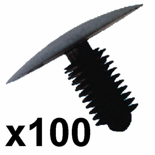 100x clip plastica Trim-si adatta a 9-10mm Foro 33mm HEAD