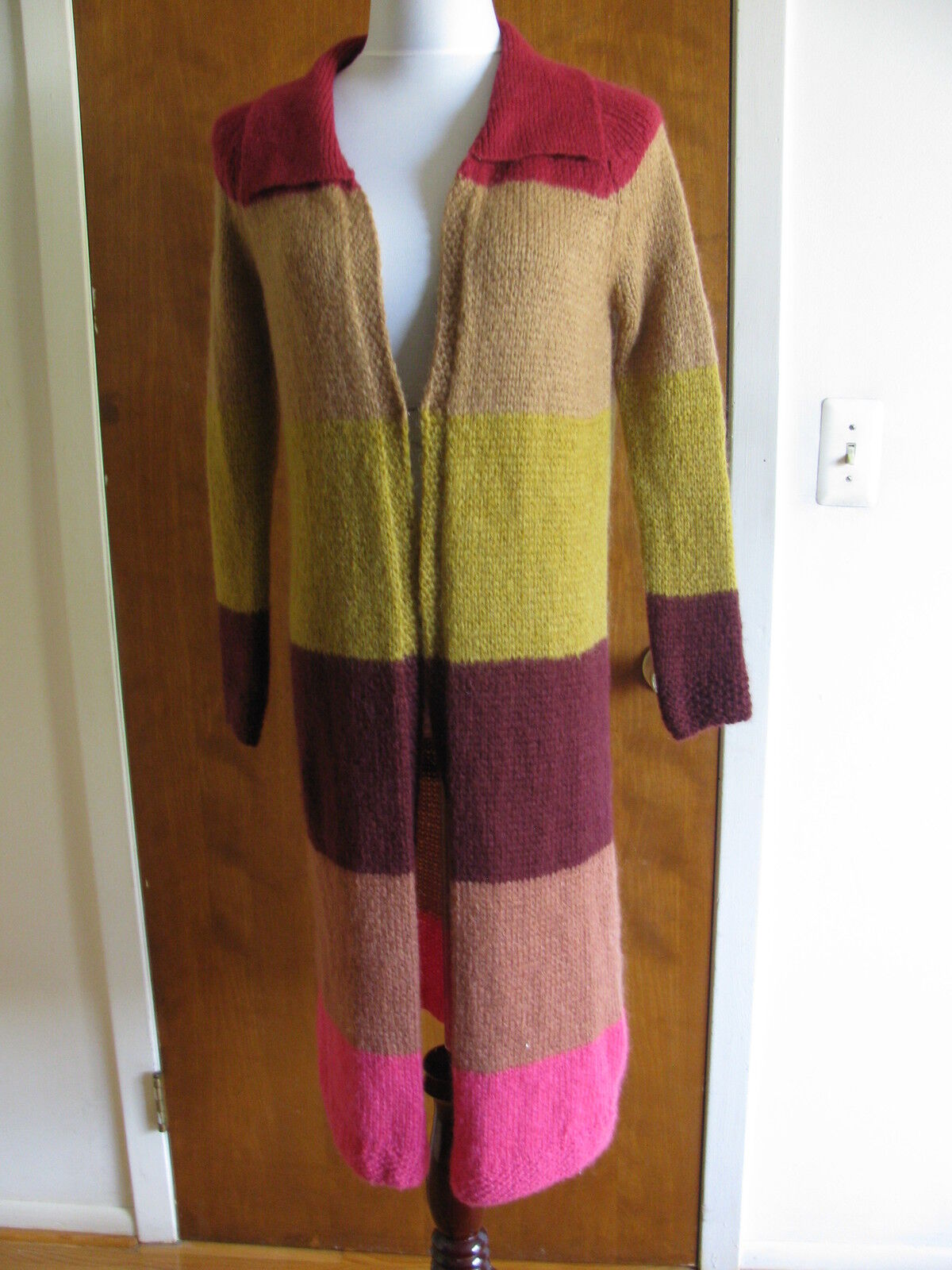 Free People Women's Multi color Stripe Long Cardigan Size Xsmall NWT