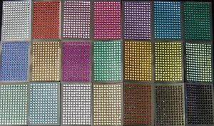 selbstklebende Schmucksteine/ Glitzersteine rund 4 mm verschiedene Farben