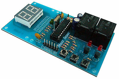 1s - 9 hours Digital Cycling Timer [ On / Off ]  2  Relays  12VDC   [ MXA071 ]