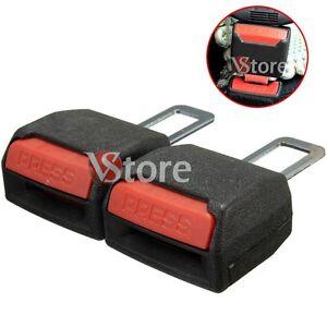 2-Gancio-Cintura-Sicurezza-Auto-Stop-Beep-Bip-Annulla-Allarme-Sonoro-Nero-2x4cm