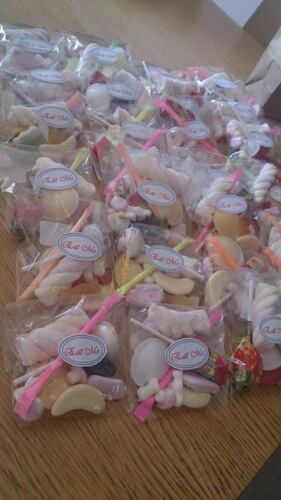 favours lollypops sweets clear cellophane bag ***stock clearance*** tube