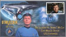 2016, Canada FDC, Star Trek, Dr Leonard H Bones McCoy, 16-022
