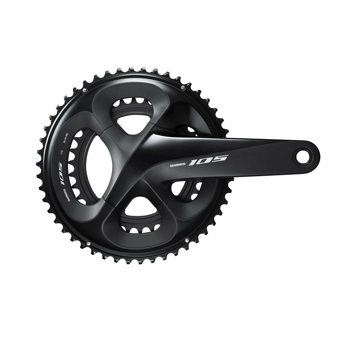 Guarnitura 105 fc-r7000 50 34t 2x11v 175mm nero SHIMANO bici strada